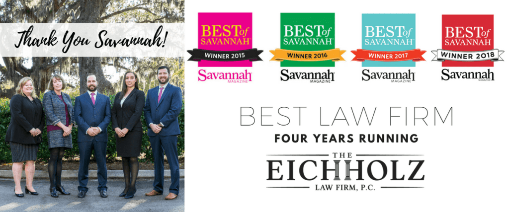 The Eichholz Law Firm Wins Savannah Magazine's Best of Savannah 2018