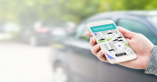 Who is liable in a ridesharing car accident?